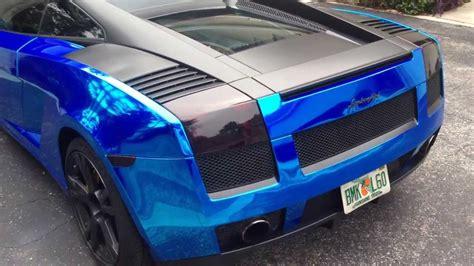2005 Avery Blue Chrome Lamborghini Gallardo Youtube