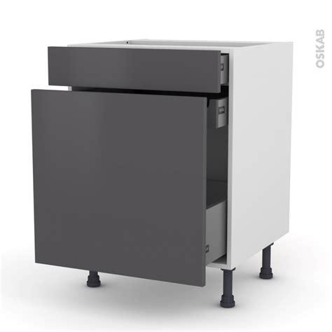 meuble de cuisine range 233 pice ginko gris 3 tiroirs l60 x h70 x p58 cm oskab