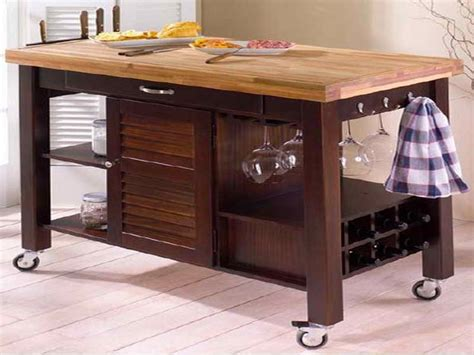 kitchen rolling kitchen island table carts stainless