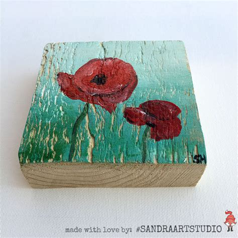 acrylic paint for wood painting on wood poppies on wood acrylic paint