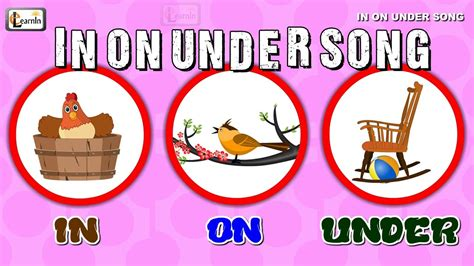 for on in on song prepositions in grammar for