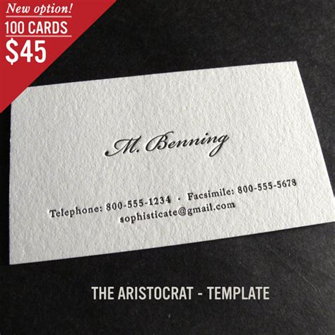 how to make letterpress cards 100 custom letterpress business cards the aristocrat