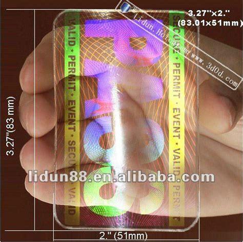how to make holographic cards card hologram stickers plastic transparent hologram