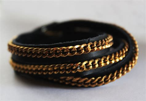 how to make leather jewelry style and bling diy bracelets made with chains