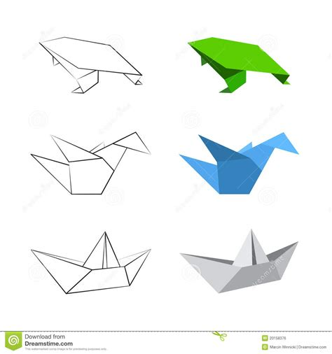 origami plans origami designs royalty free stock image image 20158376