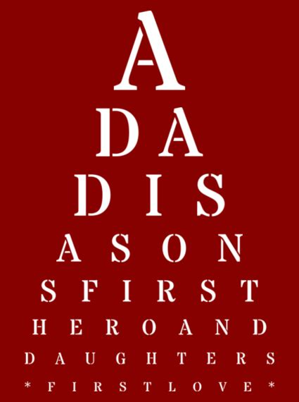 gifts this personalized fathers day gift eye chart
