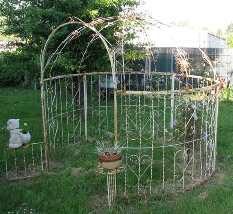 wrought iron pergola kits vintage white wrought iron gazebo chippy by