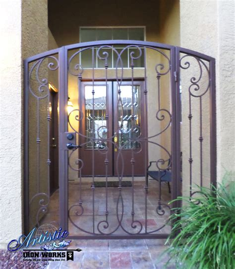 security gate for front door fouet wrought iron courtyard entry gate traditional