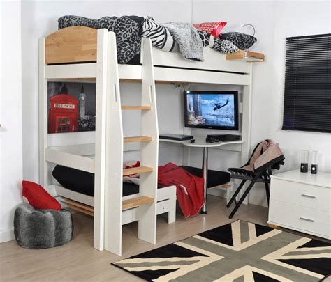 mid high bunk beds classic mid sleeper bed frame with desk home delightful
