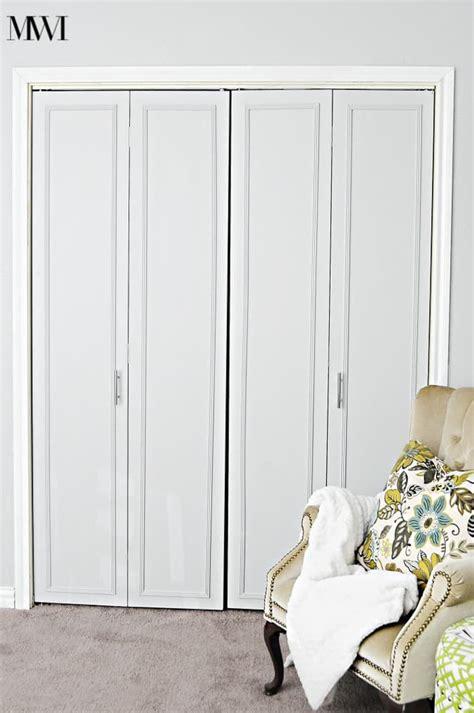 bifold closet door ideas diy bi fold closet door makeovers bright green door