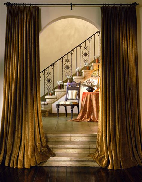a bold statement with velvet drapes amp curtains