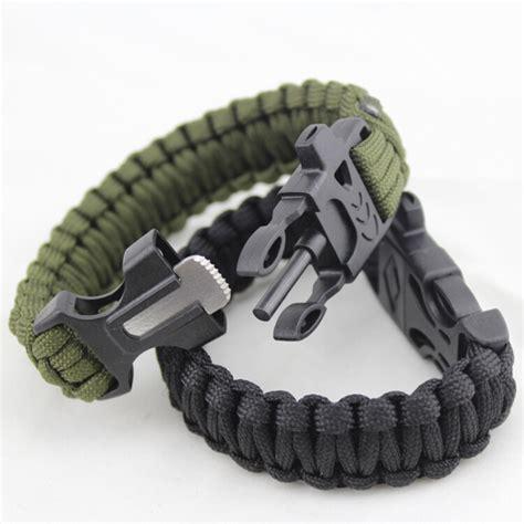 paracord bracelet with paracord survival bracelet with magnesium flint