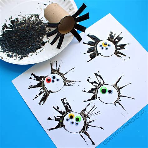 toilet paper crafts for preschoolers two toilet paper roll spider crafts for toilet