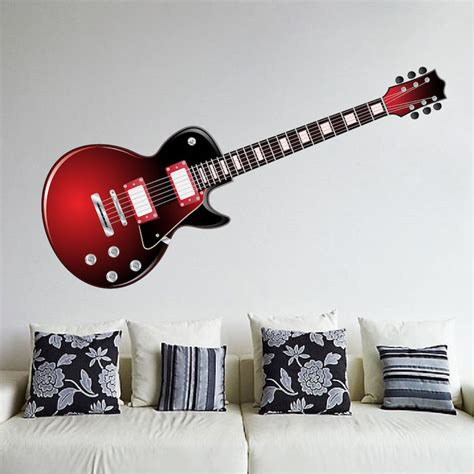 guitar wall stickers electric guitar wall mural decal wall decal