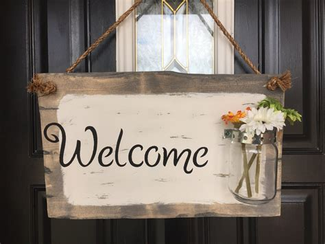 front door welcome sign front porch welcome sign by