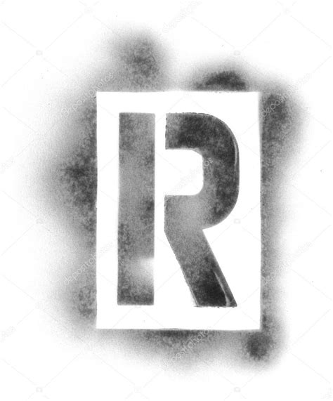 Stencil Letters In Spray Paint Stock Photo 169 Ssilver