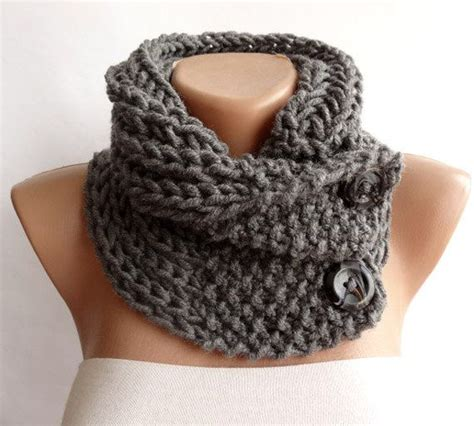 how to knit cowl neck scarf knitted scarf neckwarmer button cowl scarf chunky