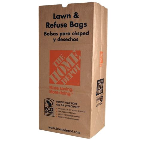 home depot paint paper the home depot 30 gal paper lawn and refuse bags 5 count