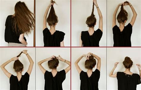 how do you put in your hair how to do a bun step by step style arena
