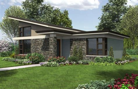 one story houses single story modern house plans