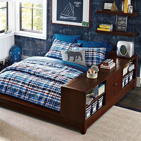 ultimate bookcase storage bed set pbteen