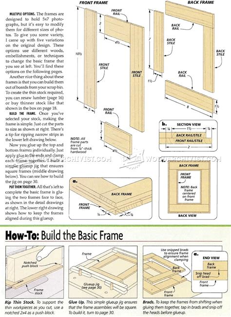 woodworking plans picture frames no miter picture frames plans woodarchivist