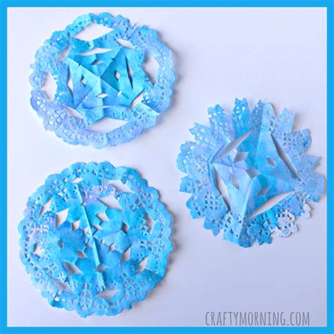snowflake craft for easy winter crafts that anyone can make happiness