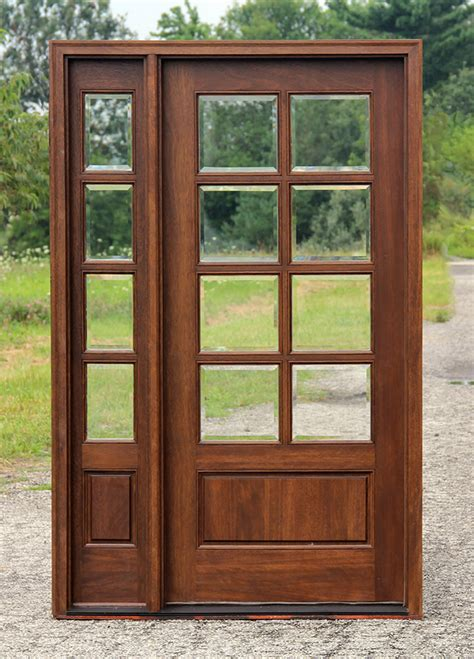 front entry doors with one sidelight mahogany exterior doors with 1 sidelight