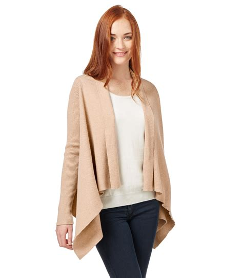 cardigans uk woolovers womens and cotton ribbed waterfall