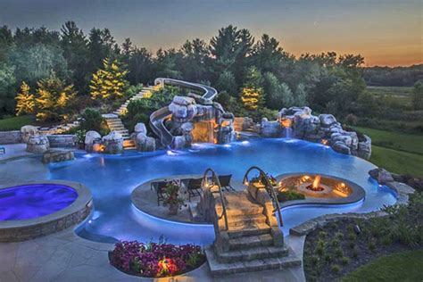 awesome backyard pools triyae awesome backyard pools various design