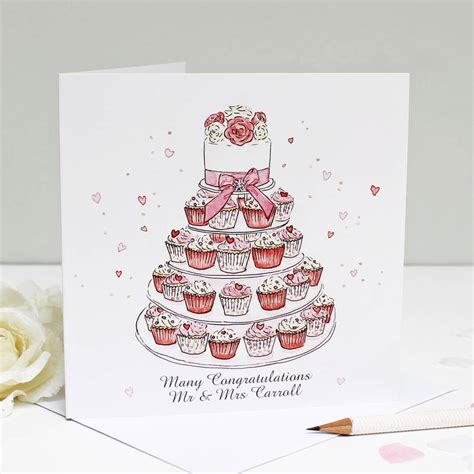 card with photos personalised wedding cupcakes greeting card by give