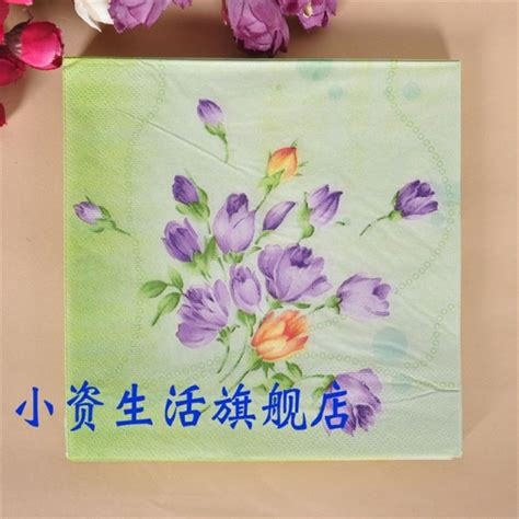 printed tissue paper for decoupage vintage napkin paper tissue color printed blue purple