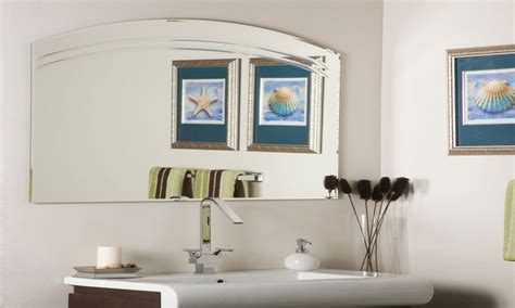 beveled mirrors for bathroom frameless wall mirror frameless beveled wall mirror