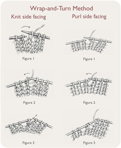 wrap 1 turn knitting 25 best ideas about knitting rows on