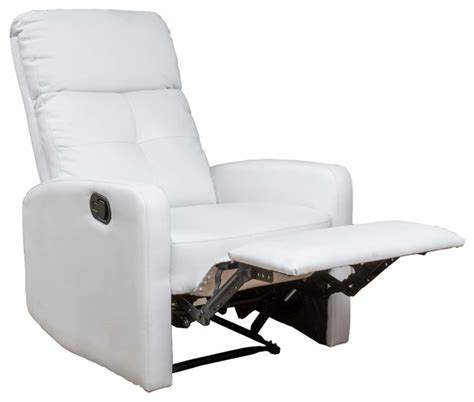 Black Leather Swivel Bar Stools by Teyana White Leather Recliner Club Chair Contemporary