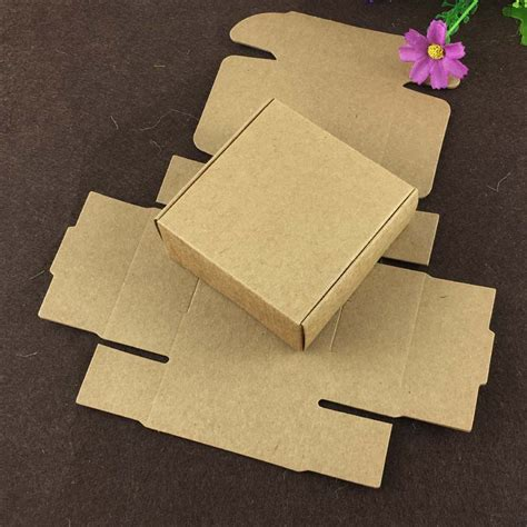 craft paper gift boxes 100pcs 6 5 6 5 3cm kraft gift box paper packing box blank