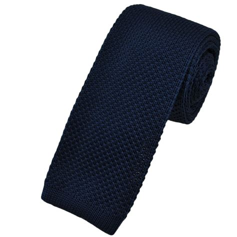 navy blue knit tie plain navy blue narrow knitted tie from ties planet uk