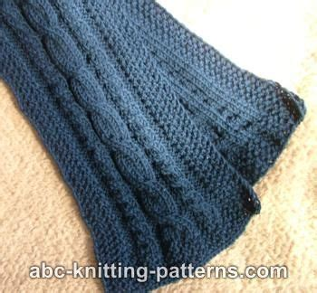 free easy cable scarf knitting patterns abc knitting patterns three cable scarf