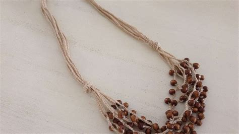 how to make crochet necklace with how to make a crochet necklace with wooden diy