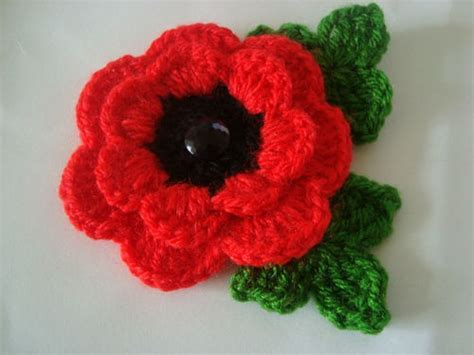 how to knit a poppy flower best 25 crochet poppy pattern ideas on