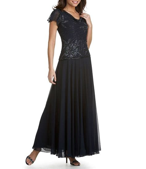 jkara beaded chiffon gown jkara floral beaded chiffon gown dillards