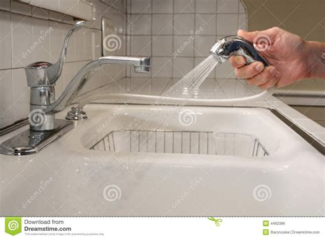 kitchen sink cleaning cleaning the kitchen sink royalty free stock image image