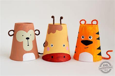 paper cup animals craft foam cup crafts set of 3 safari animals