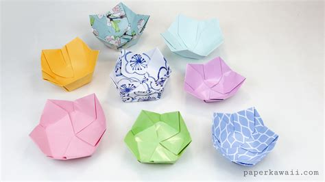 where can i get origami paper origami flower bowl tutorial paper kawaii