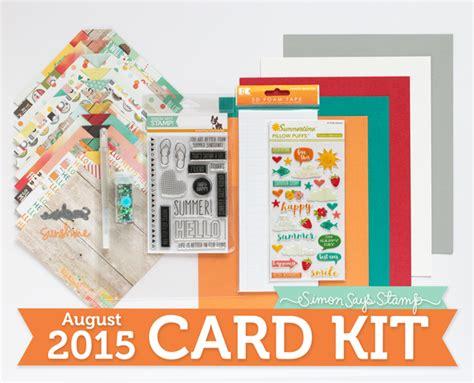 card kits my impressions simon says st august card kit hello