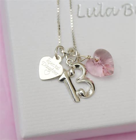 gift necklace 13th birthday keepsake gift necklace
