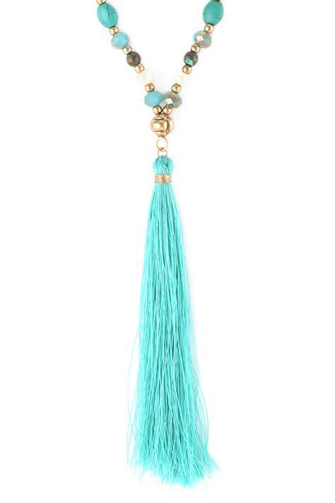 tassel bead necklace multi beaded tassel pendant necklace necklaces