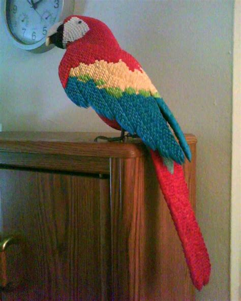 origami 3d 3d origami macaw by dfoosdc on deviantart
