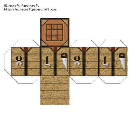 paper minecraft crafting papercraft crafting table faithful 32x