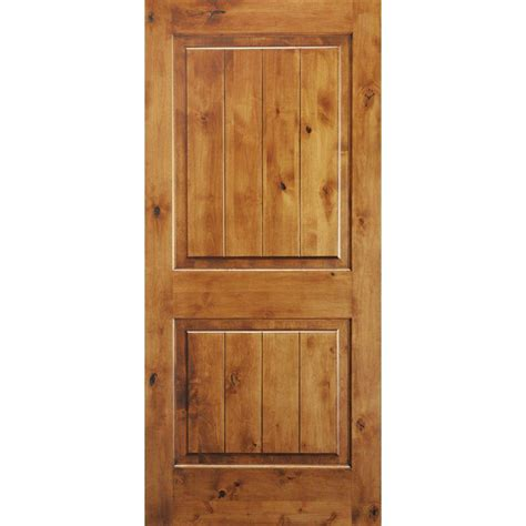 prehung solid wood interior doors krosswood doors 30 in x 96 in knotty alder 2 panel